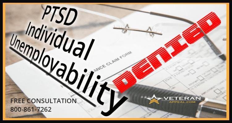 PTSD and Individual Unemployability Denied