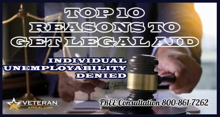 Individual Unemployability Denied