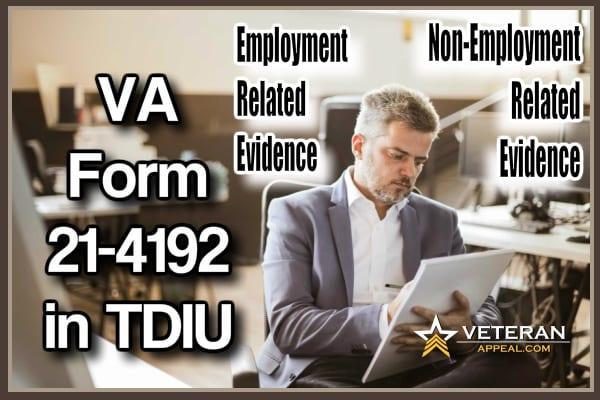 VA Form 21-4192 in TDIU