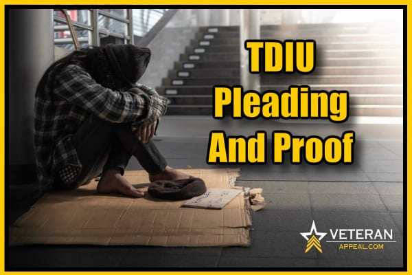 TDIU Pleading And Proof